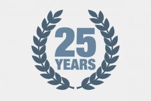 25 years of insurance